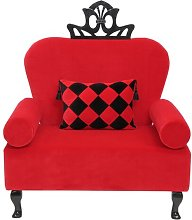 Artedeco Armchair Happy Barok Upholstery: Red