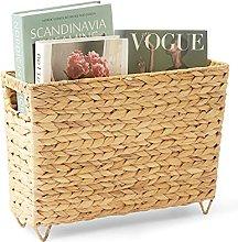 Artera Magazine Wicker Basket with Handles, 15.5 L