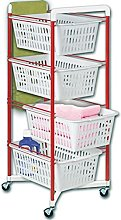 ARTEX Spa 13.20.04 Vicenza 4 Kitchen Trolley Red