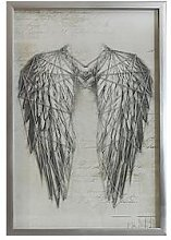 Arthouse Angel Wings Silver Metallic String Art
