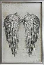 Arthouse Angel Wings Silver Metallic String Art