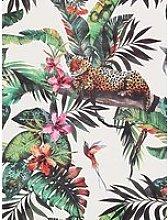 Arthouse Animal Jungle White Multi Wallpaper