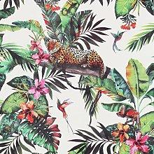 Arthouse Animal Jungle White Wallpaper