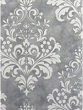 Arthouse Arthouse Baroque Damask Grey & White