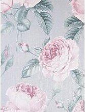 Arthouse Arthouse Vintage Rose Grey/Pink Wallpaper