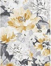 Arthouse Aubrey Floral Ochre Wallpaper