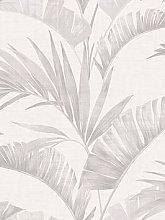 Arthouse Banana Palm Chalk Grey Wallpaper