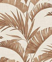 Arthouse Banana Palm Coffee Brown Wallpaper