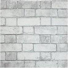 Arthouse Brickwork White Wallpaper