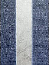 Arthouse Calico Stripe Navy Wallpaper