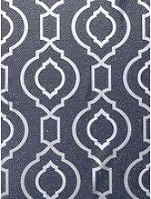 Arthouse Calico Trellis Navy Wallpaper