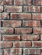 Arthouse Carnforth Brick Red Wallpaper
