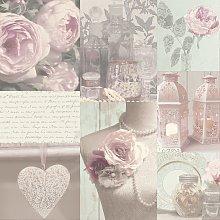 Arthouse Charlotte Blush Pink Wallpaper