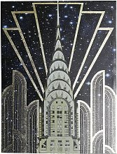Arthouse Chrysler High Gloss Gold Foil Canvas Wall