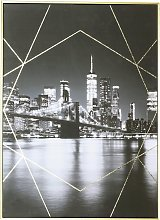 Arthouse City Capped Gold Foil Canvas Wall Art