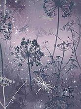Arthouse Damselfly Purple Wallpaper