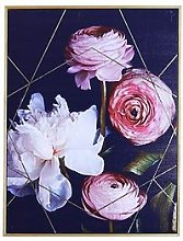 Arthouse Dark Floral Capped Canvas Wall Art