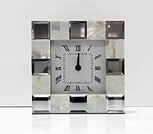 Arthouse Desk Clock with Shell, Multi, 20 x 20