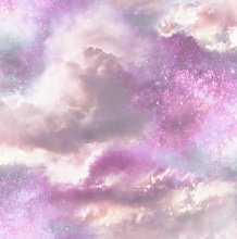 Arthouse Diamond Galaxy Purple Wallpaper