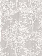 Arthouse Diamond Wood Silver Wallpaper
