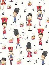 Arthouse Drummer Boy Red Wallpaper