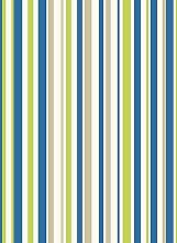 Arthouse Earn Your Stripes Blue/Green Wallpaper