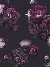 Arthouse Euphoria Floral Plum Wallpaper