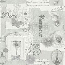 Arthouse Felicity Silver Paris Calligraphy Floral