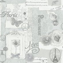 Arthouse Felicity Silver Wallpaper