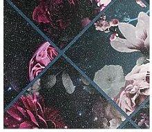 Arthouse Floral Collage Glitter Vinyl Wallpaper