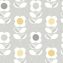 Arthouse Floral Grey Yellow Wallpaper