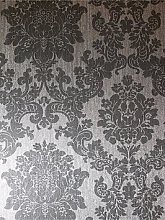 Arthouse Foil Damask Silver Wallpaper
