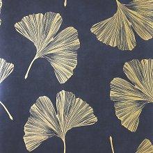 Arthouse Ginkgo Leaf Navy Wallpaper