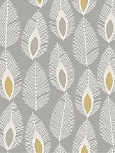 Arthouse Glam Feather Grey Wallpaper