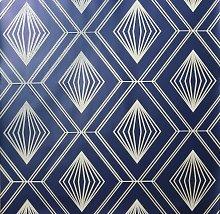 Arthouse Glitter Diamond Navy Blue Wallpaper