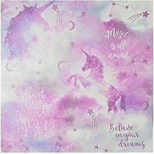 Arthouse Glitter Galaxy Unicorn Wallpaper