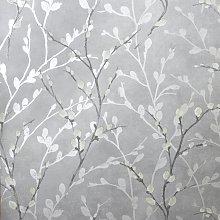 Arthouse Glitter Willow Silver Wallpaper