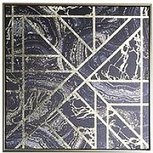 Arthouse Gold Marble Geo Capped Canvas With Foil