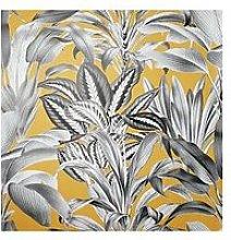 Arthouse Greenhouse Plants Ochre Wallpaper