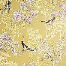 Arthouse Japanese Garden Ochre Yellow Wallpaper