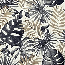 Arthouse Jungle Black And Gold Wallpaper