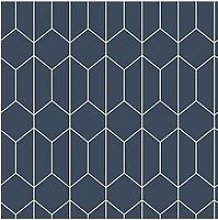 Arthouse Linear Geo Navy Wallpaper