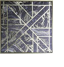 Arthouse Marble Geo Gold Capped Canvas Wall Art
