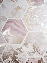 Arthouse Marbled Hexagon Pink / Rose Gold Wallpaper