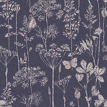 Arthouse Meadow Floral Indigo Wallpaper