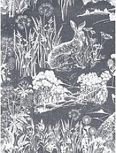 Arthouse Meadow Hare Navy Wallpaper