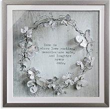 Arthouse Memories Diamante Framed Print - 60x60cm