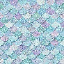 Arthouse Mermazing Scales Blue Wallpaper