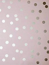 Arthouse Metallic Dotty Wallpaper &Ndash; Blush