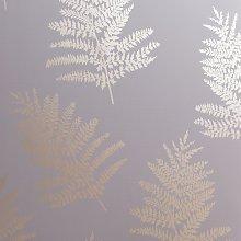 Arthouse Metallic Fern Charcoal Pink Wallpaper